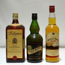 020157 Ballantine's Finest, Black Bottle & Asda Own Single Malt