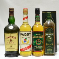 020338 Bushmills 10 Year Old, Jamieson's 12 Year Old, Paddy Irish & Old Kilkenny