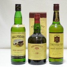 020621 Jameson's Crested Ten, Ballygeary & Redbreast 12 Year Old