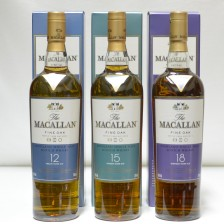 020740 Macallan Fine Oaks - 12, 15 & 18 Year Olds