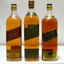 020633 Johnnie Walker Red 1L, Green 1L & Black 1.125L